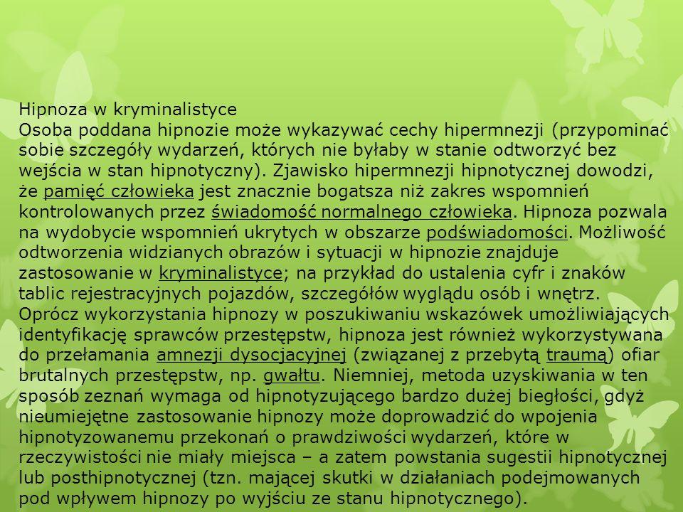 Hipnoza w kryminalistyce