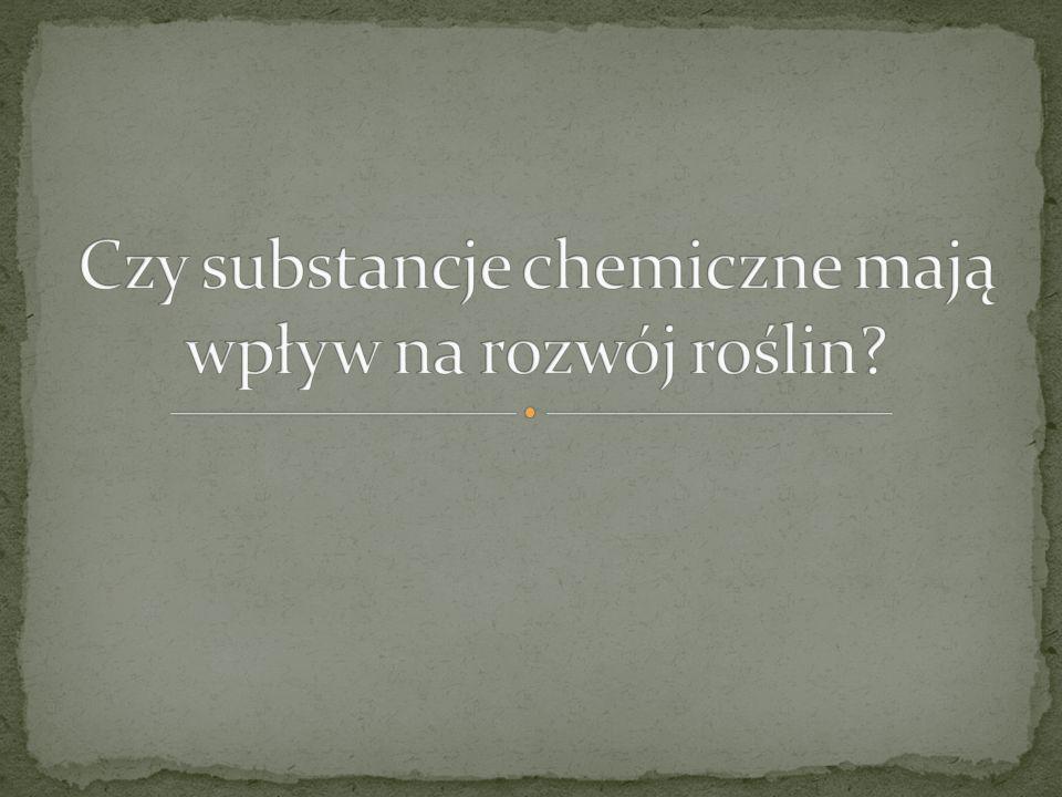 Czy substancje chemiczne mają wpływ na rozwój roślin