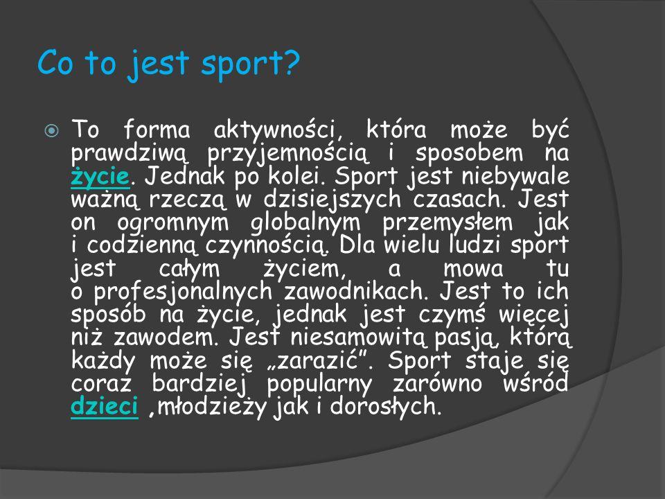 Co to jest sport