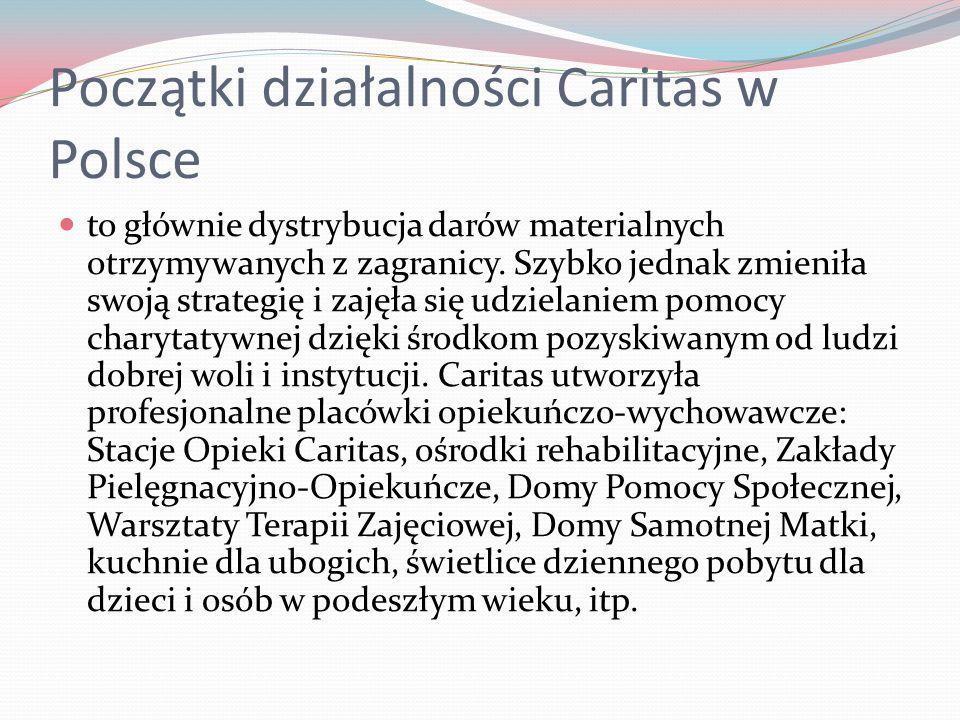 Początki działalności Caritas w Polsce