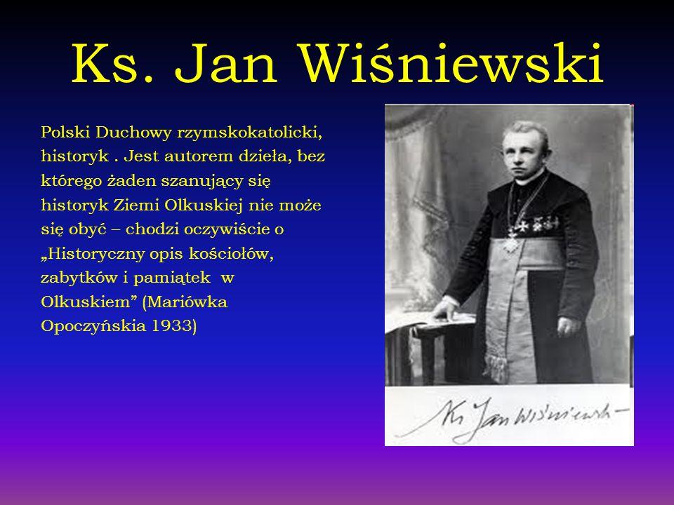 Ks. Jan Wiśniewski Polski Duchowy rzymskokatolicki,