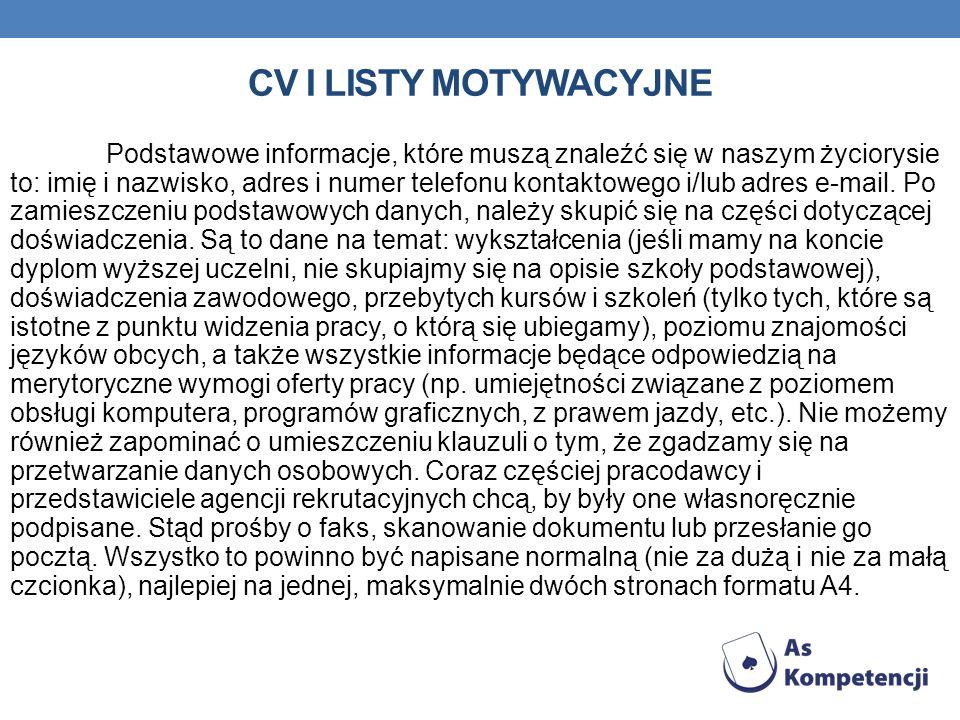 CV i Listy Motywacyjne