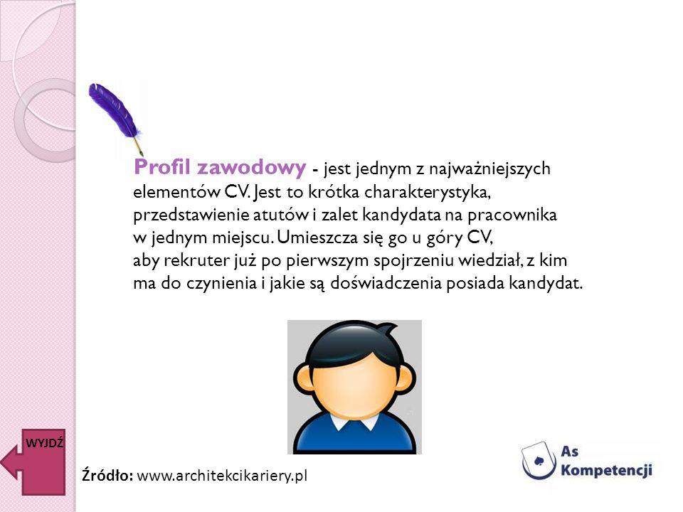 Profil zawodowy - jest jednym z najważniejszych elementów CV