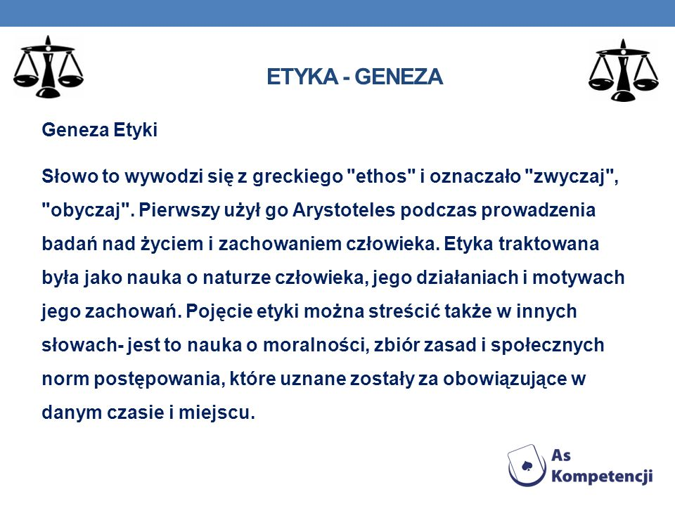Etyka - geneza