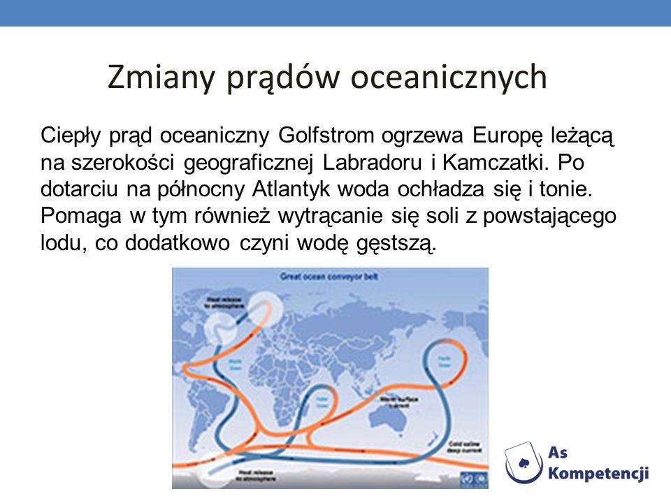 Zmiany prądów oceanicznych