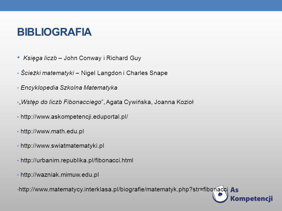 Bibliografia Księga liczb – John Conway i Richard Guy