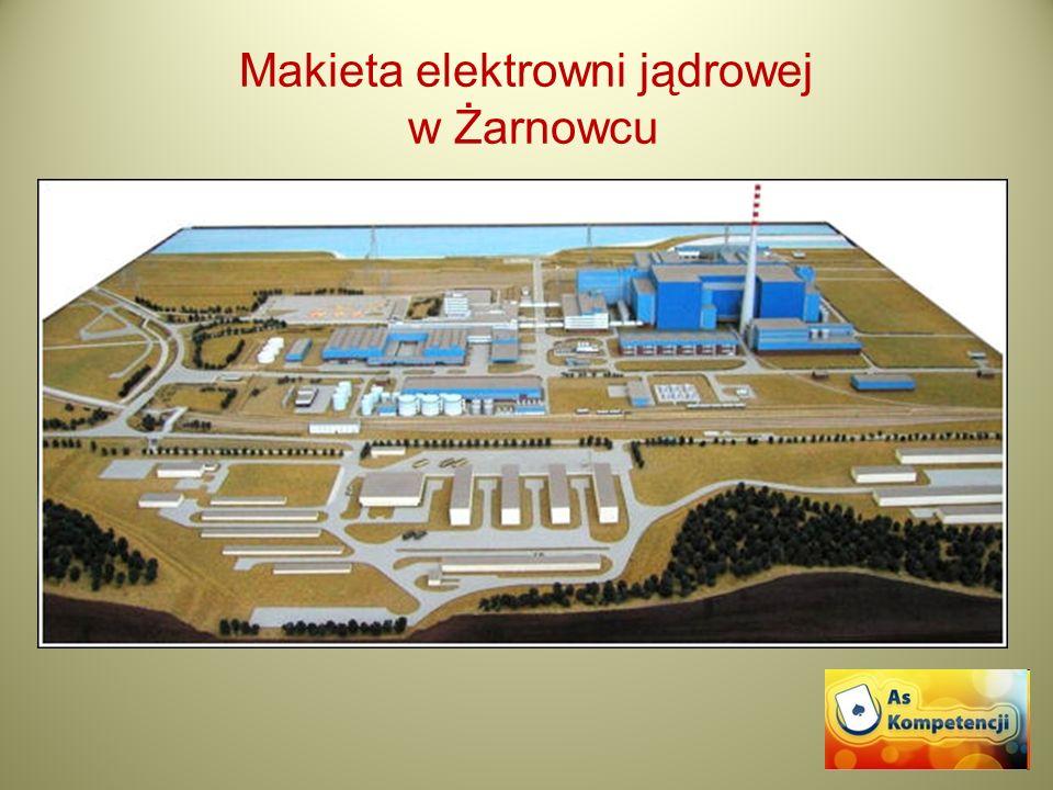 Makieta elektrowni jądrowej w Żarnowcu