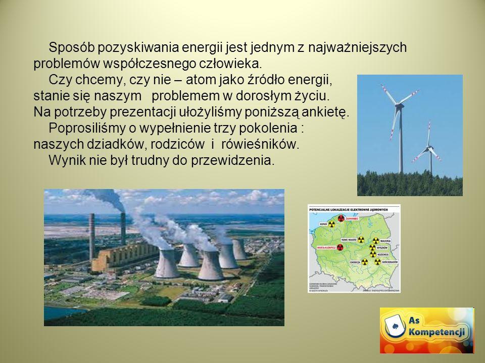 Sposób pozyskiwania energii jest jednym z najważniejszych problemów współczesnego człowieka.