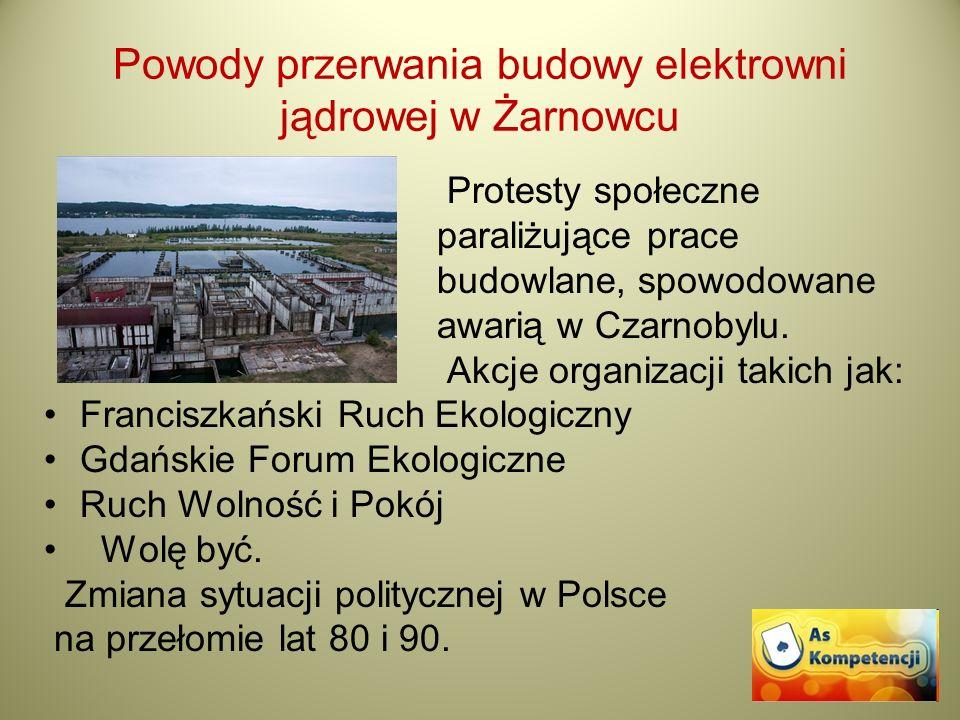 Powody przerwania budowy elektrowni jądrowej w Żarnowcu