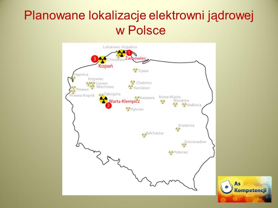 Planowane lokalizacje elektrowni jądrowej w Polsce