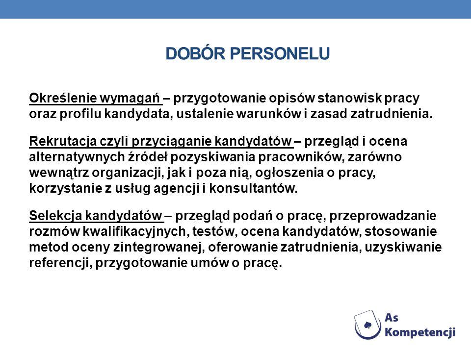 DOBÓR PERSONELU