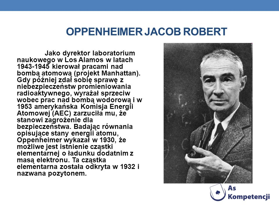 Oppenheimer Jacob Robert