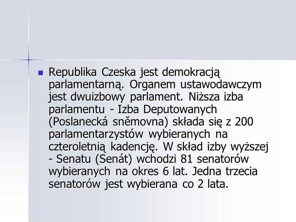 Republika Czeska jest demokracją parlamentarną
