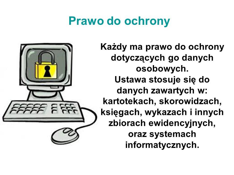 Każdy ma prawo do ochrony dotyczących go danych osobowych.