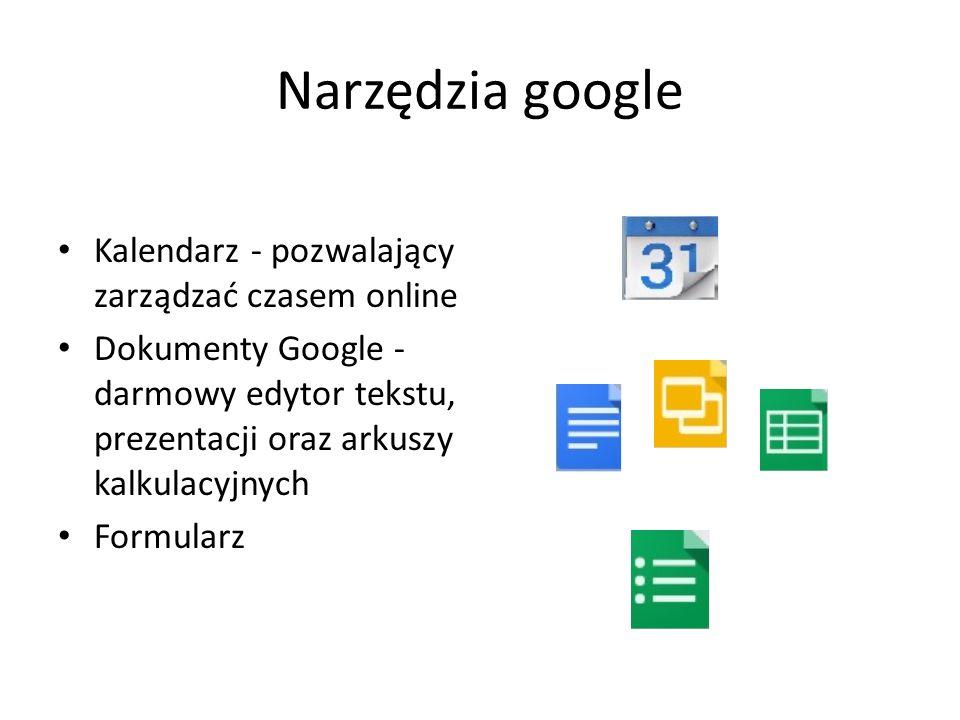 Narzędzia google Kalendarz - pozwalający zarządzać czasem online