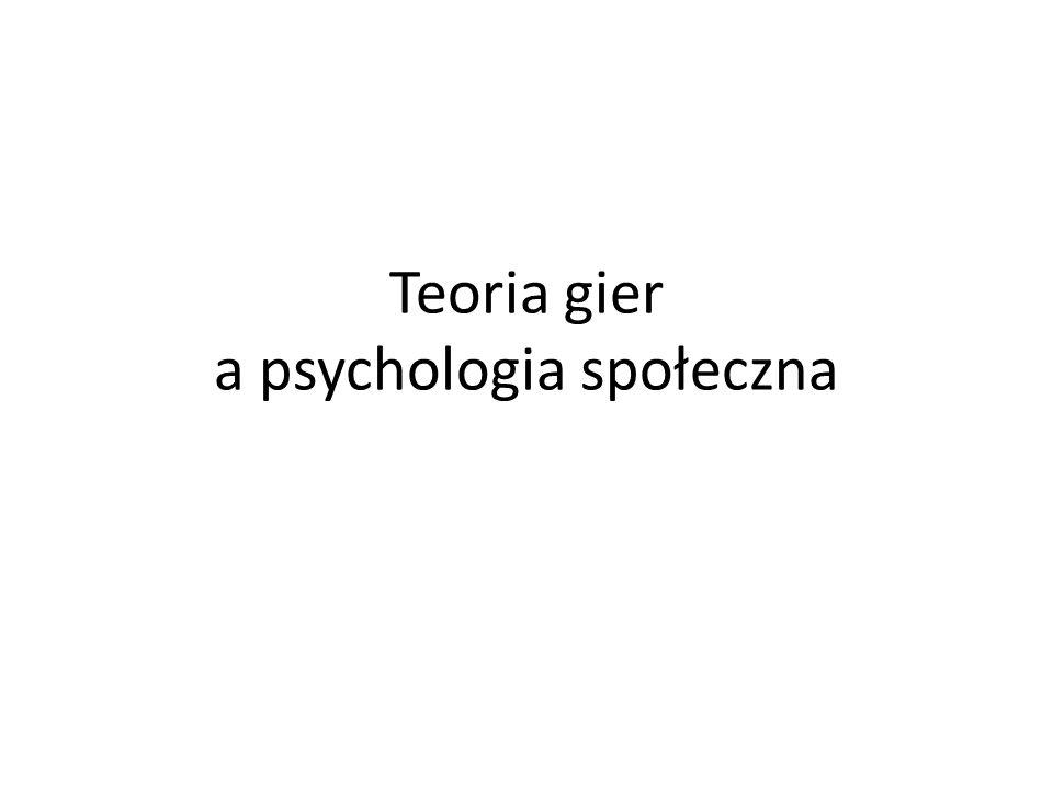 Teoria gier a psychologia społeczna