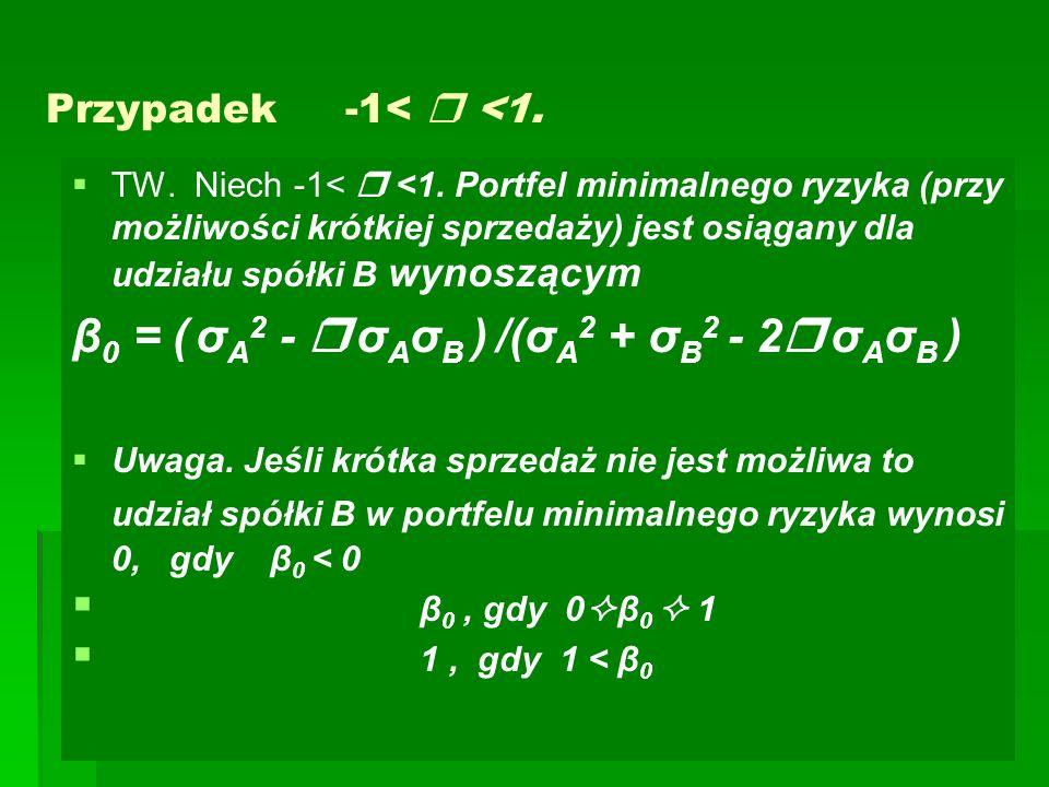 β0 = ( σA2 -  σAσB ) /(σA2 + σB2 - 2 σAσB )