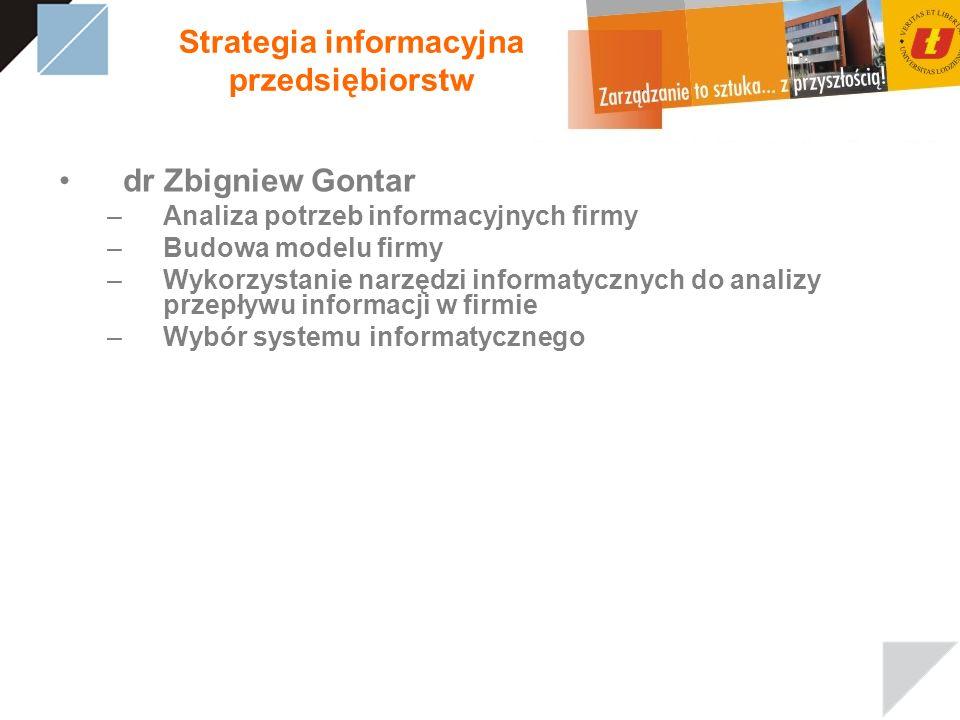 Strategia informacyjna przedsiębiorstw