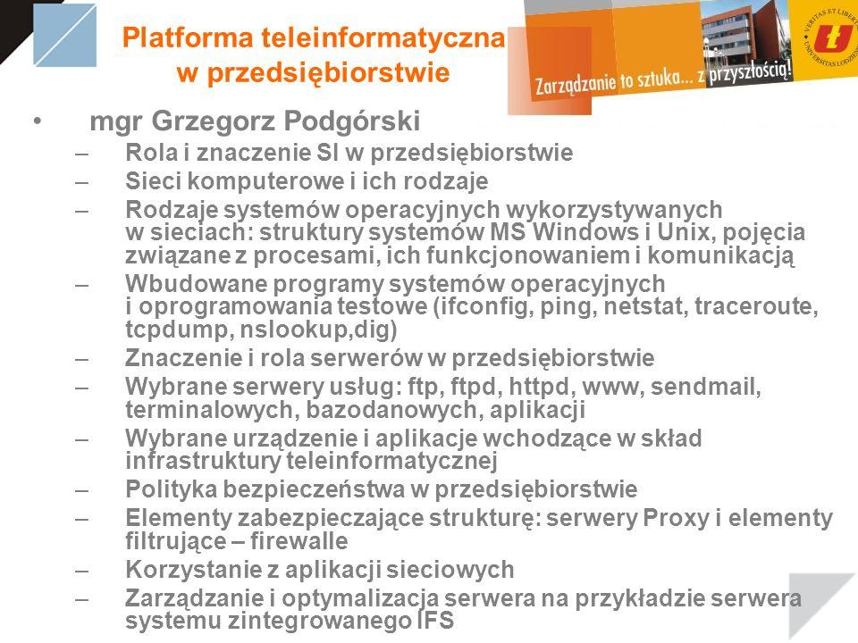 Platforma teleinformatyczna w przedsiębiorstwie
