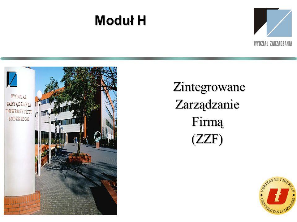 Moduł H Zintegrowane Zarządzanie Firmą (ZZF)