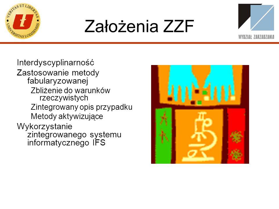 Założenia ZZF Interdyscyplinarność Zastosowanie metody fabularyzowanej