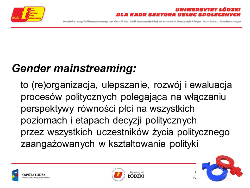 Gender mainstreaming: