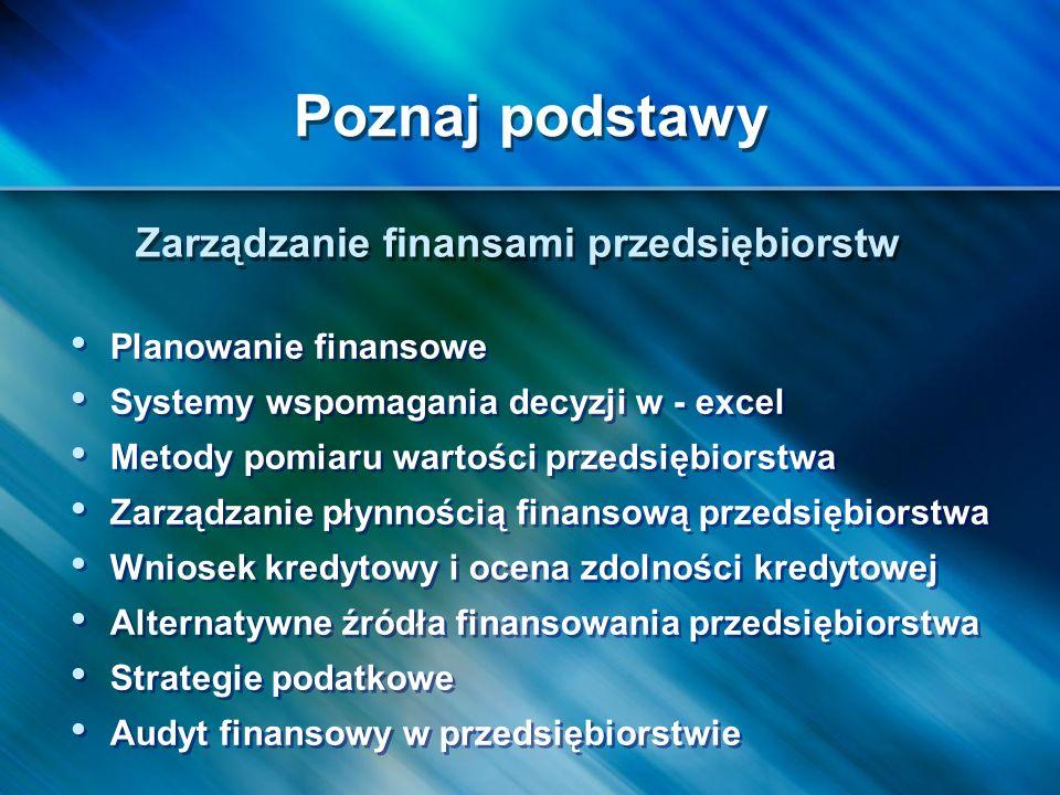 Zarządzanie finansami przedsiębiorstw