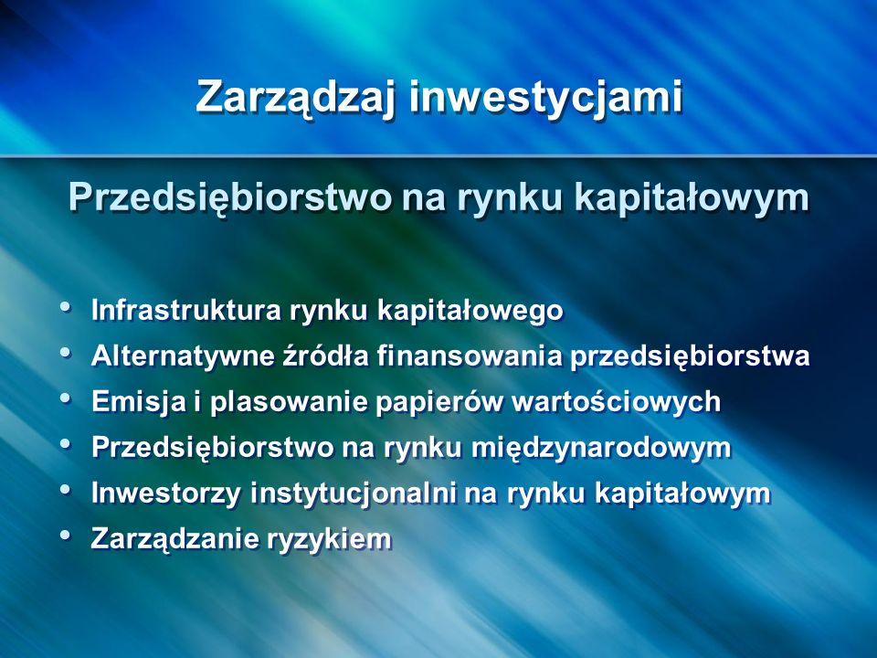Zarządzaj inwestycjami