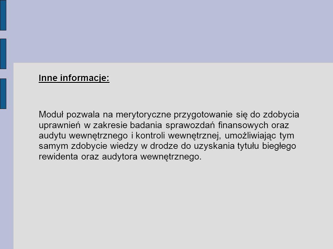 Inne informacje: