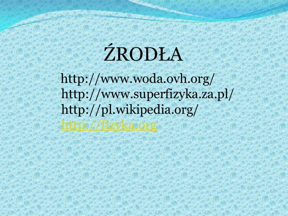 ŹRODŁA http://www.superfizyka.za.pl/ http://pl.wikipedia.org/