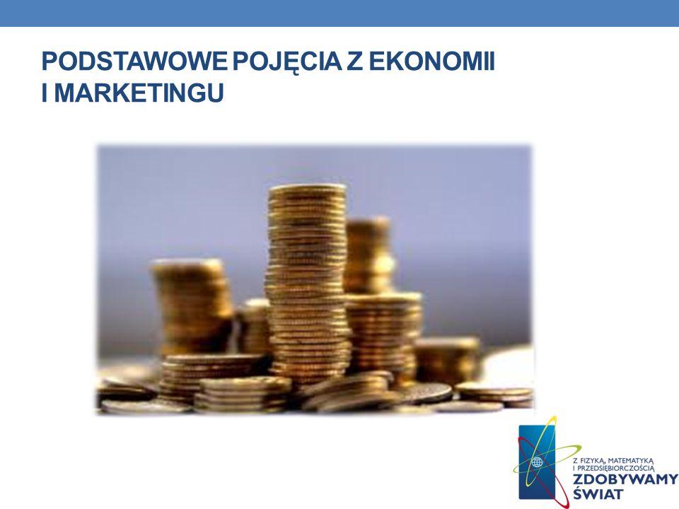 Podstawowe pojęcia z ekonomii i marketingu
