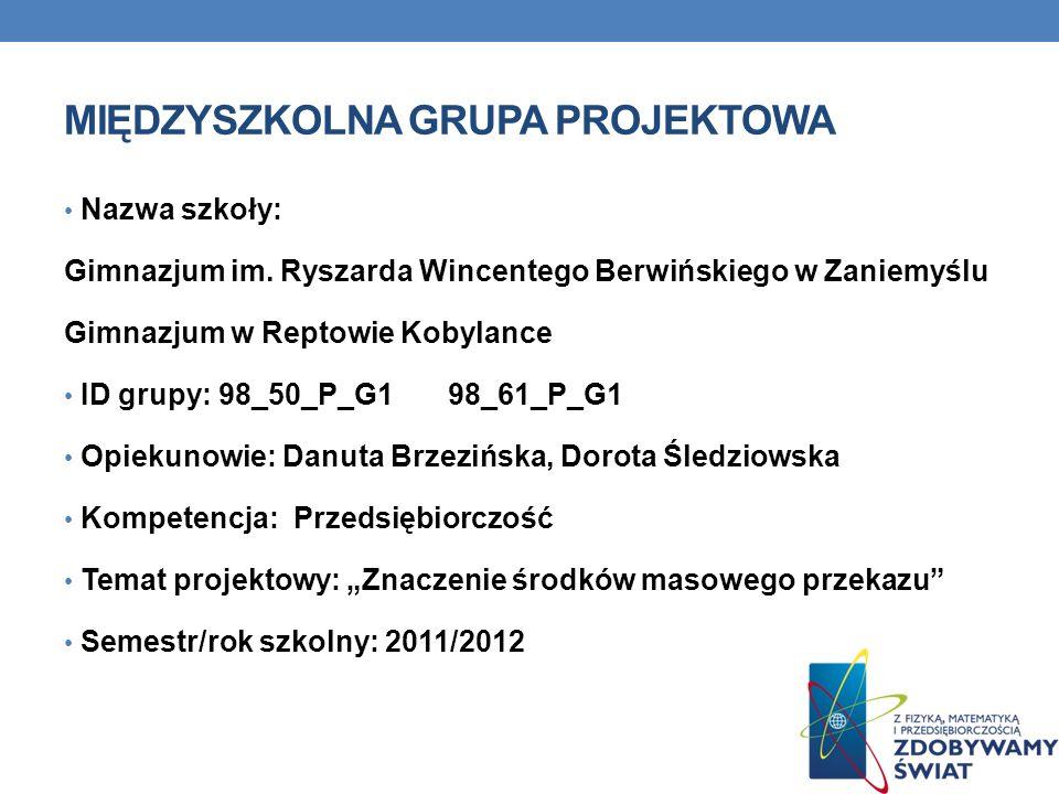 Międzyszkolna Grupa Projektowa