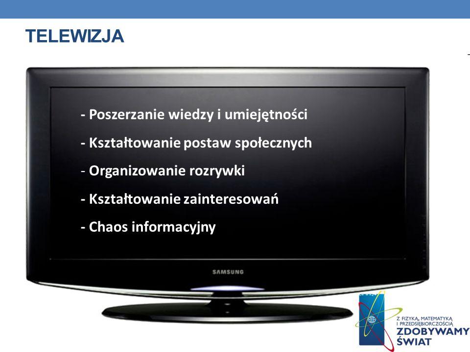 Telewizja - Poszerzanie wiedzy i umiejętności