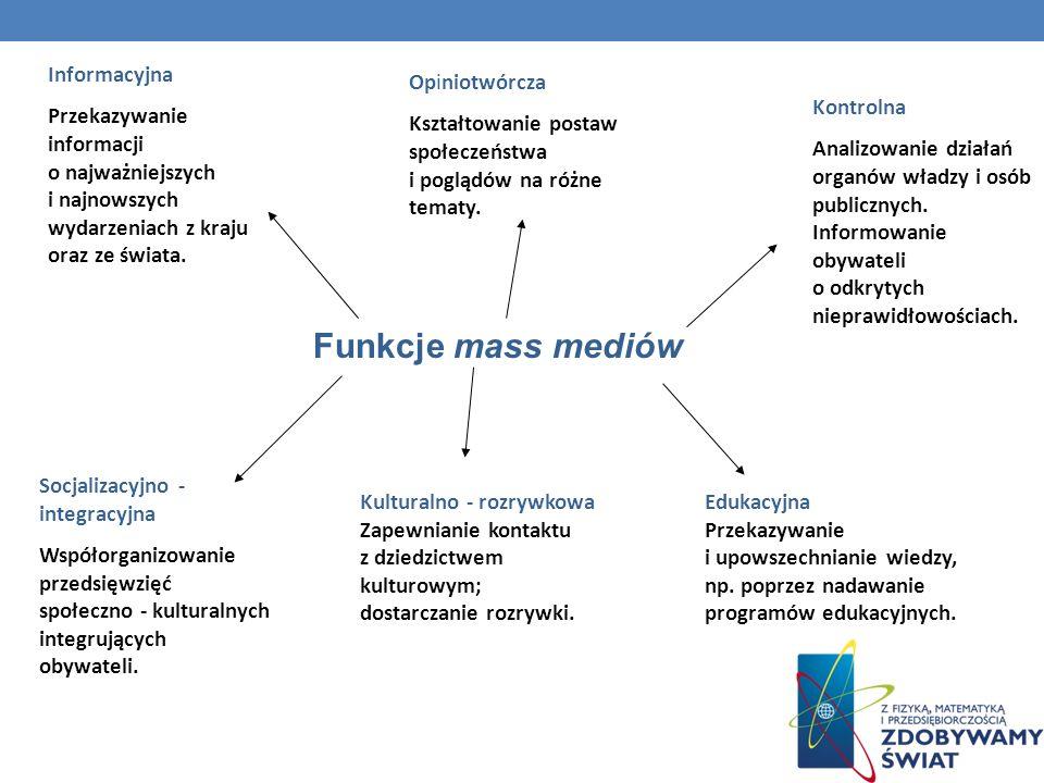 Funkcje mass mediów Informacyjna