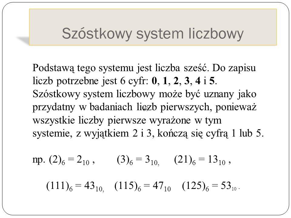 Szóstkowy system liczbowy