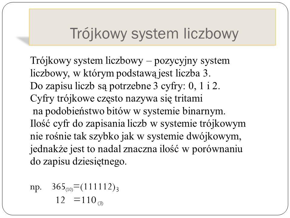 Trójkowy system liczbowy