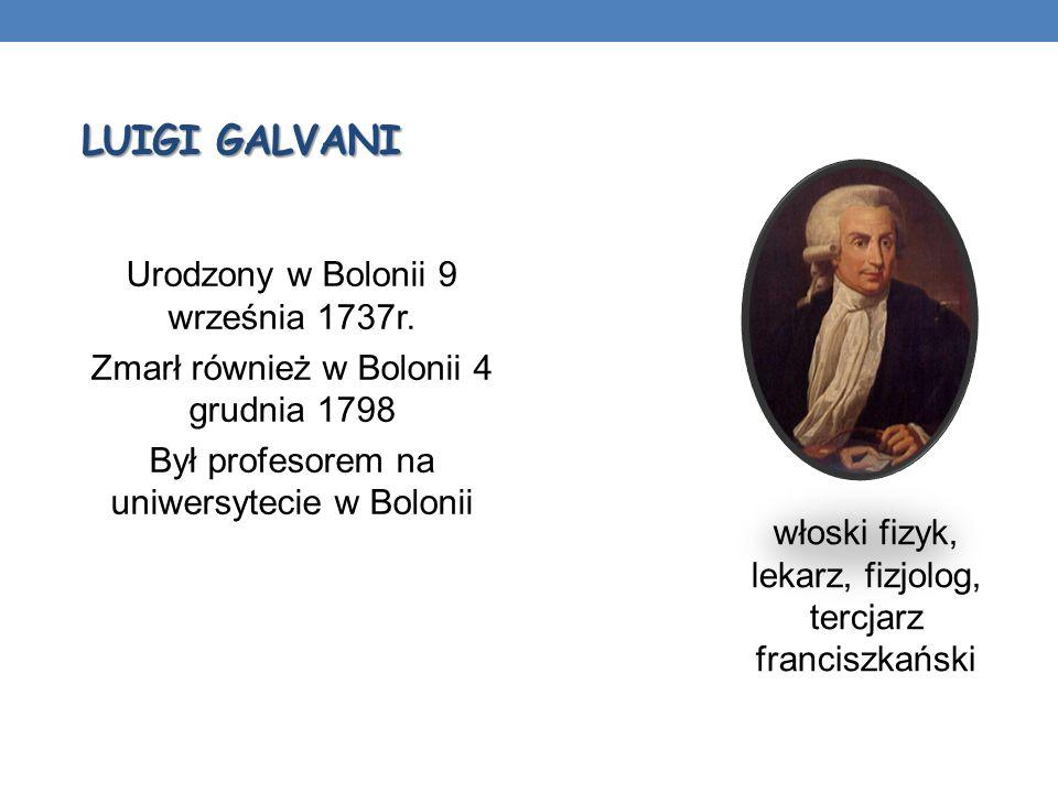 włoski fizyk, lekarz, fizjolog, tercjarz franciszkański