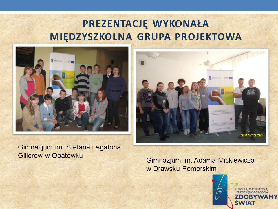 Prezentację wykonała Międzyszkolna Grupa Projektowa