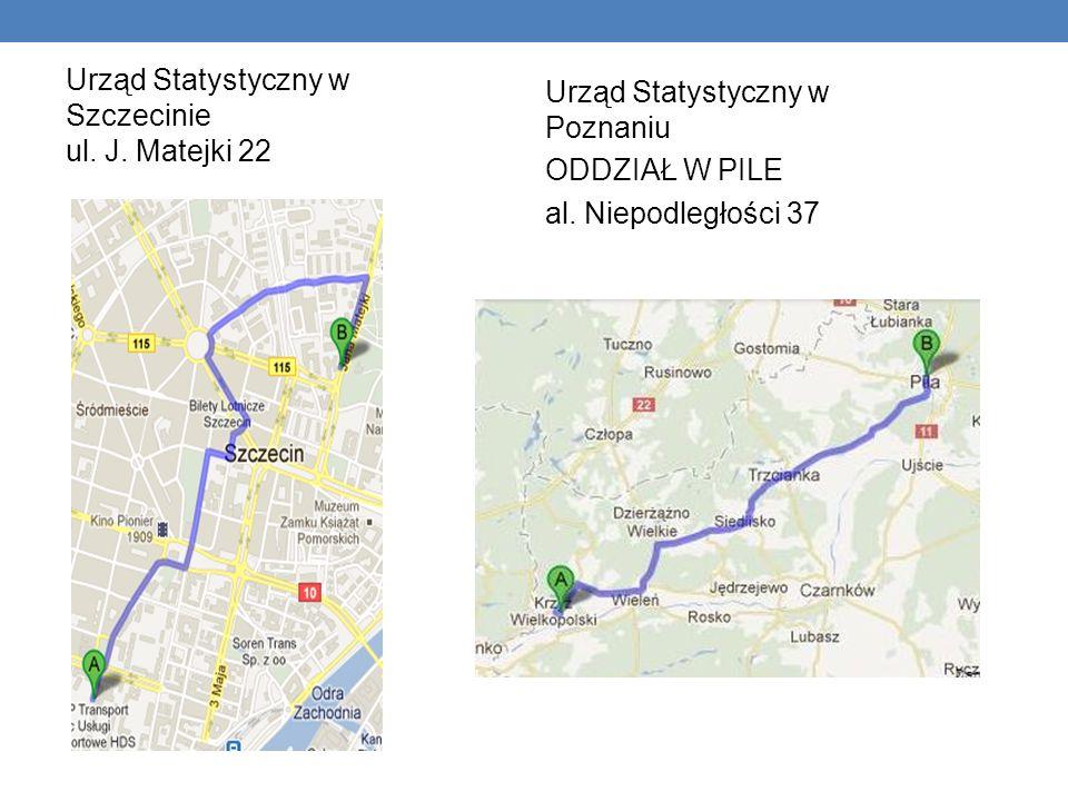 Urząd Statystyczny w Szczecinie ul. J. Matejki 22