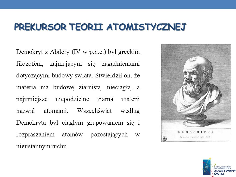 Prekursor teorii Atomistycznej