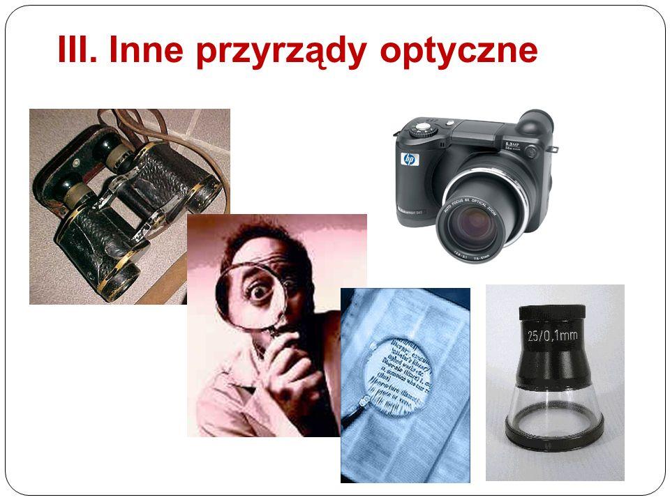 III. Inne przyrządy optyczne