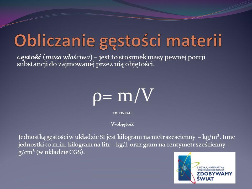 Obliczanie gęstości materii