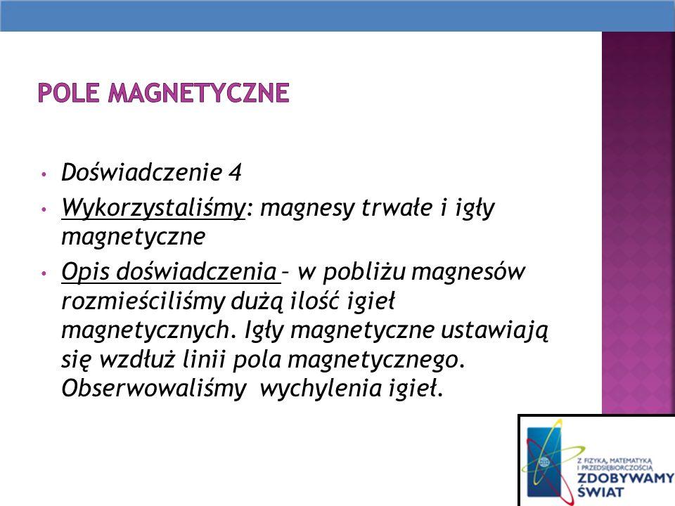 Pole magnetyczne Doświadczenie 4