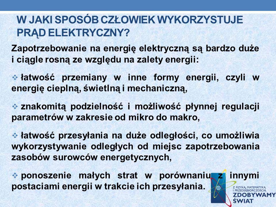 W jaki sposób człowiek wykorzystuje prąd elektryczny