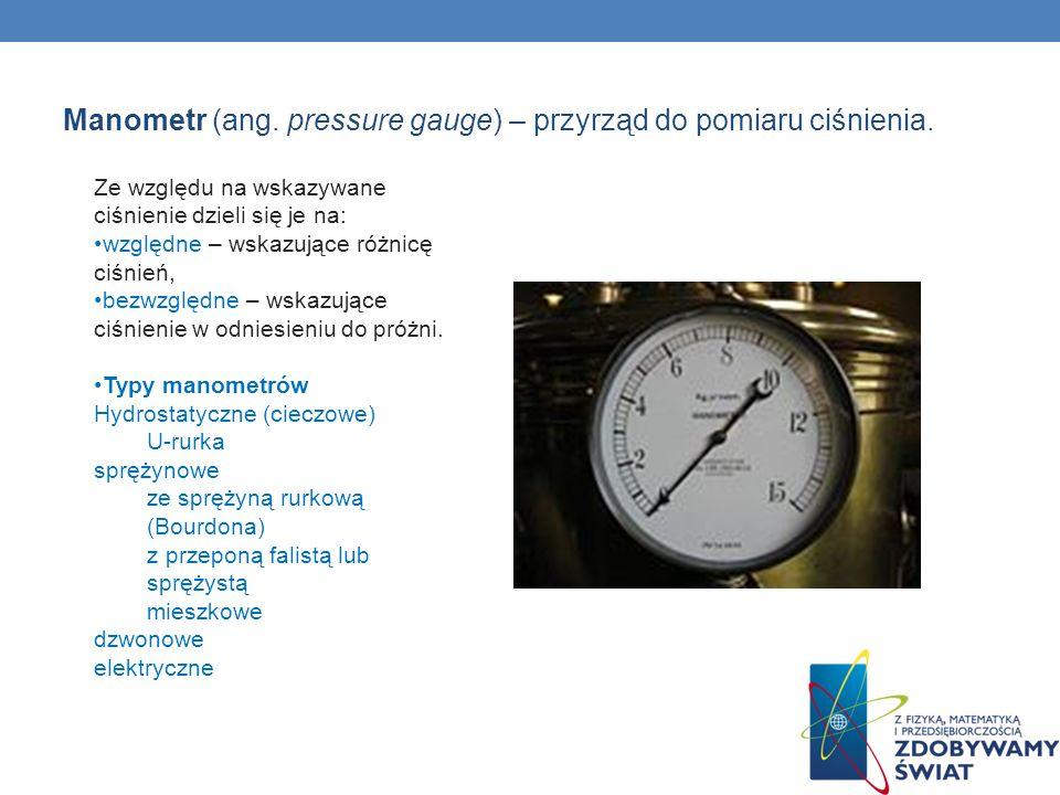 Manometr (ang. pressure gauge) – przyrząd do pomiaru ciśnienia.