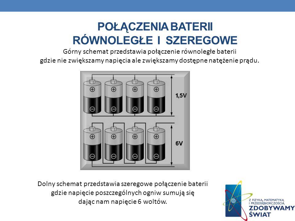 Połączenia baterii równoległe i szeregowe