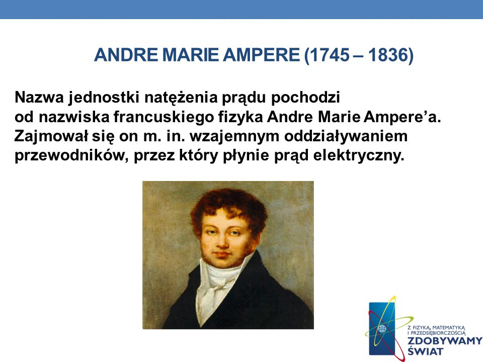 Andre Marie Ampere (1745 – 1836)
