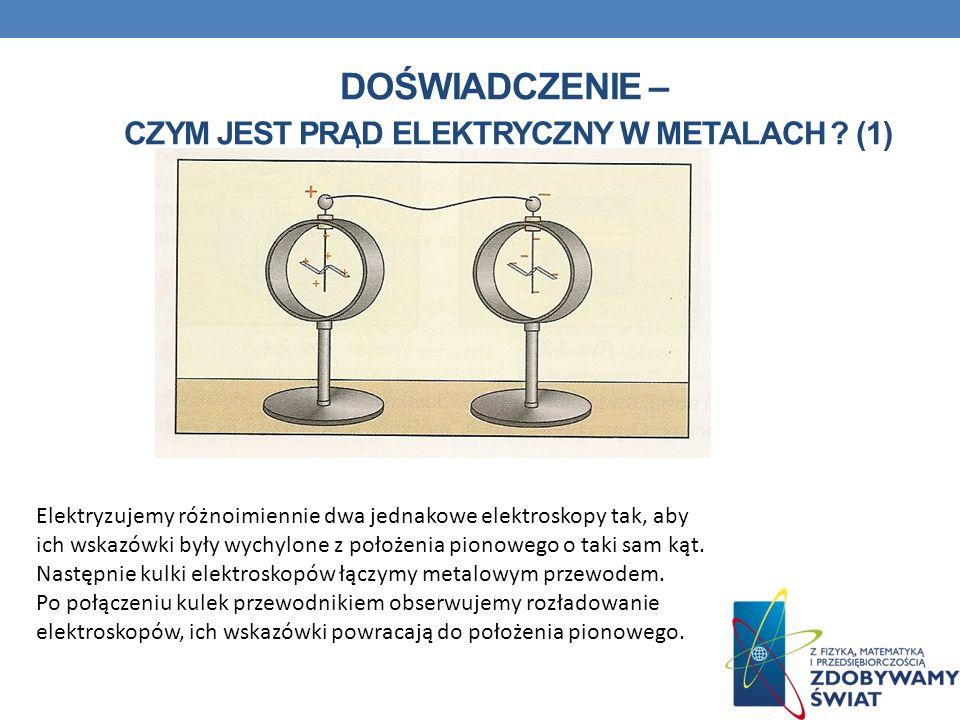 Doświadczenie – czym jest prąd elektryczny w metalach (1)