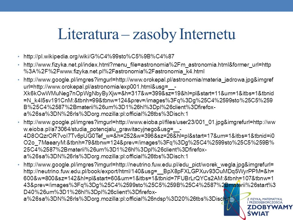 Literatura – zasoby Internetu