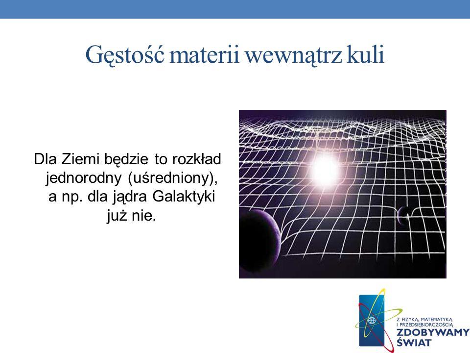 Gęstość materii wewnątrz kuli